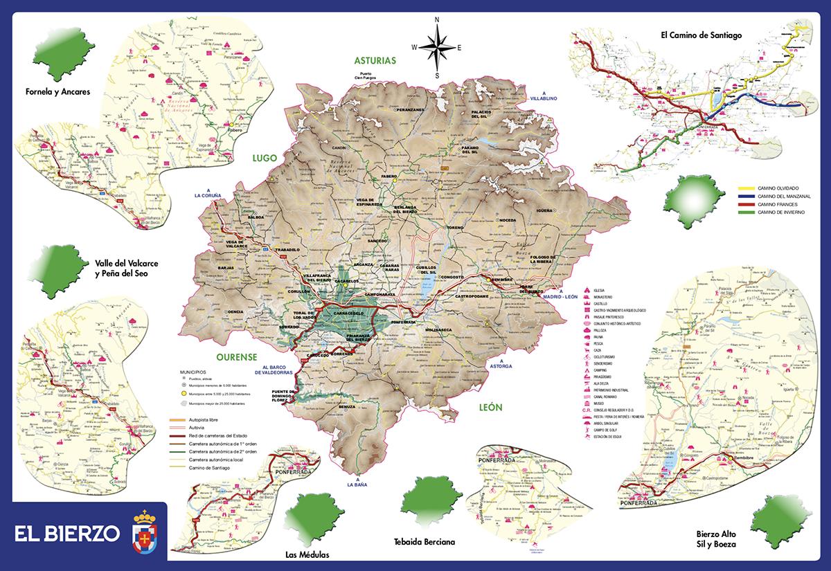 Mapa Del Bierzo Leon.Planifica Tu Viaje Patronato De Turismo De El Bierzo